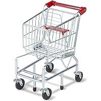 Melissa & Doug Juguete de carrito de compras con marco metálico resistente, sets de juego y cocina, construcción de acero de gran grosor,  59.055 cm alto x 29.845 cm ancho x 38.1 cm largo