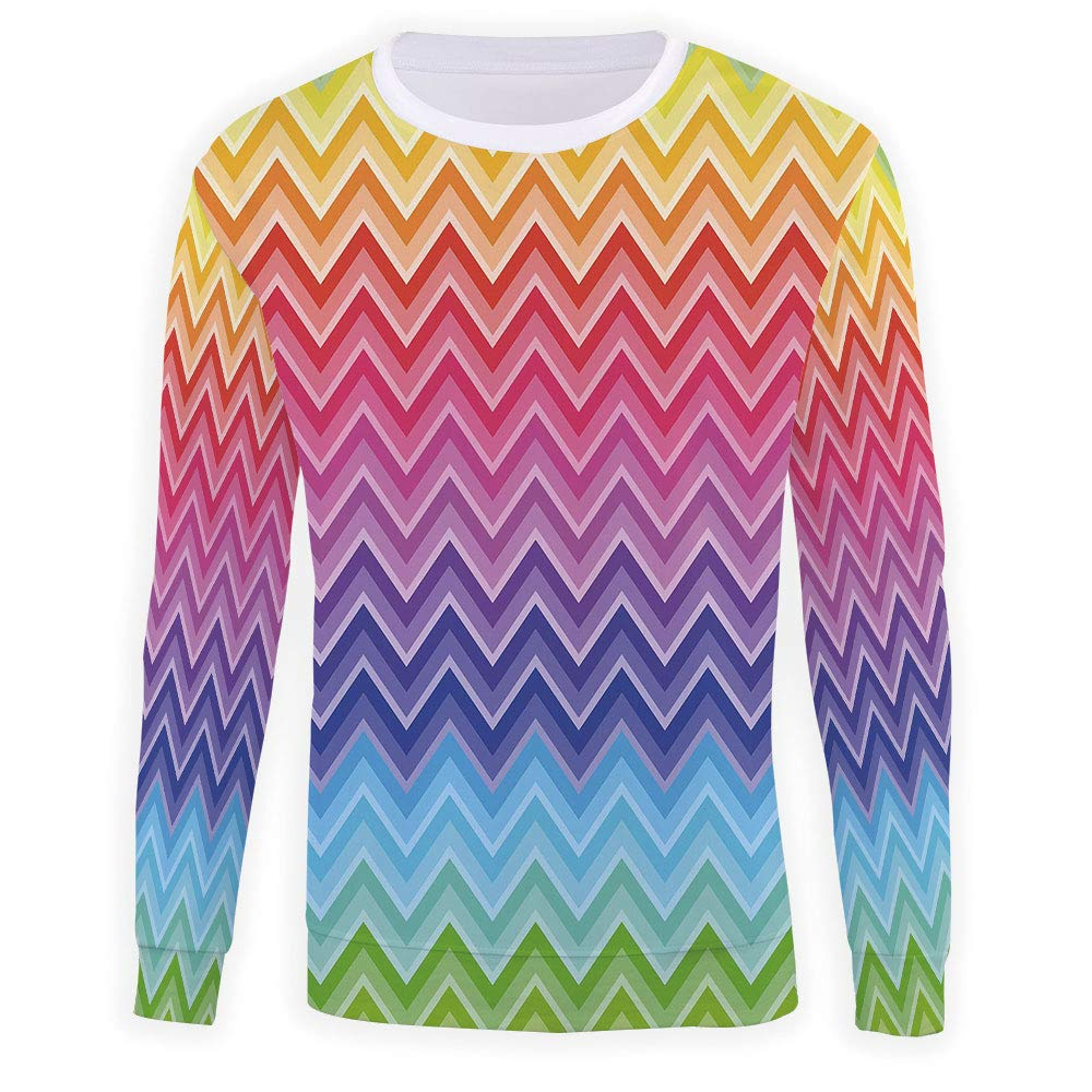 Mens Rainbow Crewneck Sweatshirt-Unisex