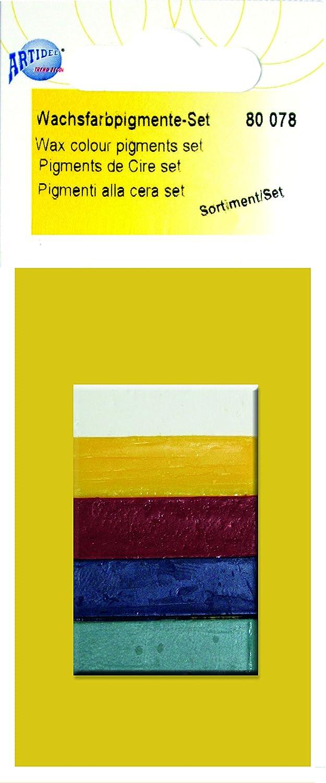 CREARTEC, set di 5 pigmenti, per colorare la cera