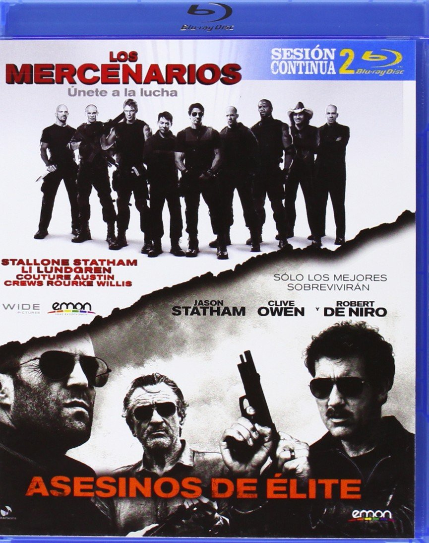 Pack: Los Mercenarios + Asesinos De Élite [Blu-ray]: Amazon.es: Sylvester Stallone, Jason Statham, Sylvester Stallone, Gary McKendry, Sylvester Stallone, Jason Statham: Cine y Series TV