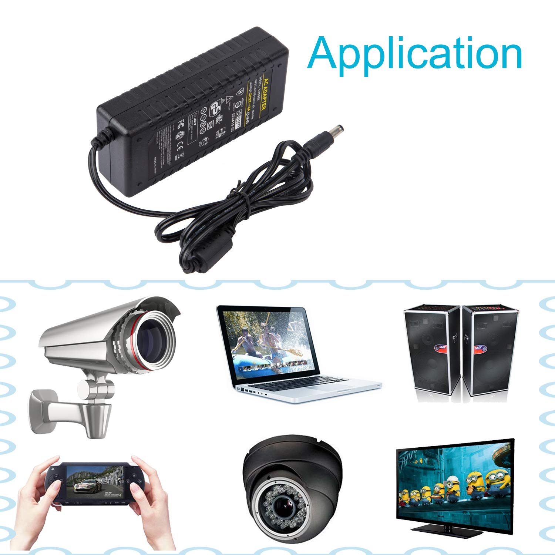 CCTV Camera COLM AC Adapter 9V 5A Power Supply 100-240v 50 60Hz AC to DC Adapter 9V 5000mA Power Transformer 5.5x2.5mm DC Plug Charger for LED Strip Light