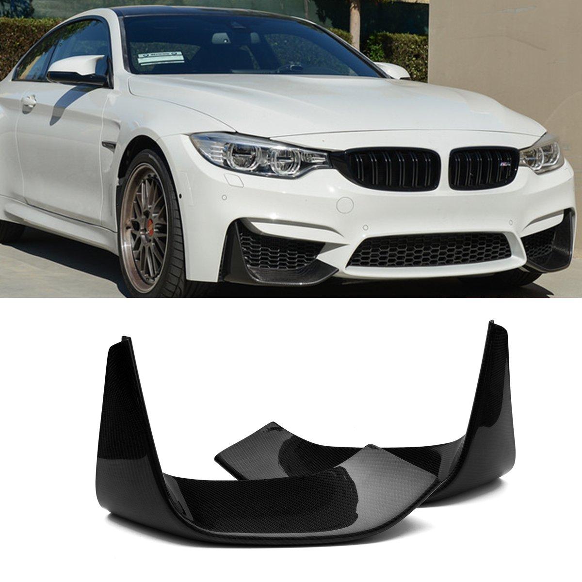 Fandixin F82 Splitters, 2 Pieces Add-on Carbon Fiber Front Bumber Splitters Lip for BMW F82 M4 F83 M4 F80 M3