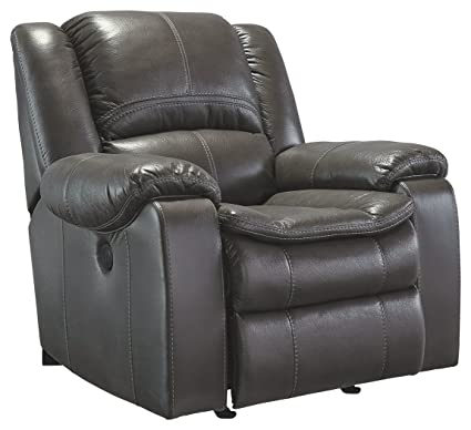 Ashley Furniture Signature Design   Long Knight Rocker Recliner   Pull Tab  Manual Reclining Sofa