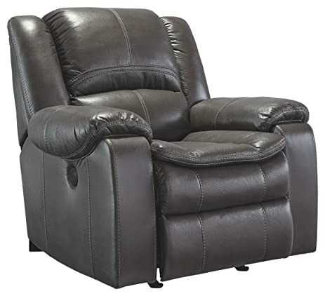 Ashley Furniture Signature Design - Long Knight Recliner - Power Reclining Chair - Gray  sc 1 st  Amazon.com & Amazon.com: Ashley Furniture Signature Design - Long Knight ... islam-shia.org