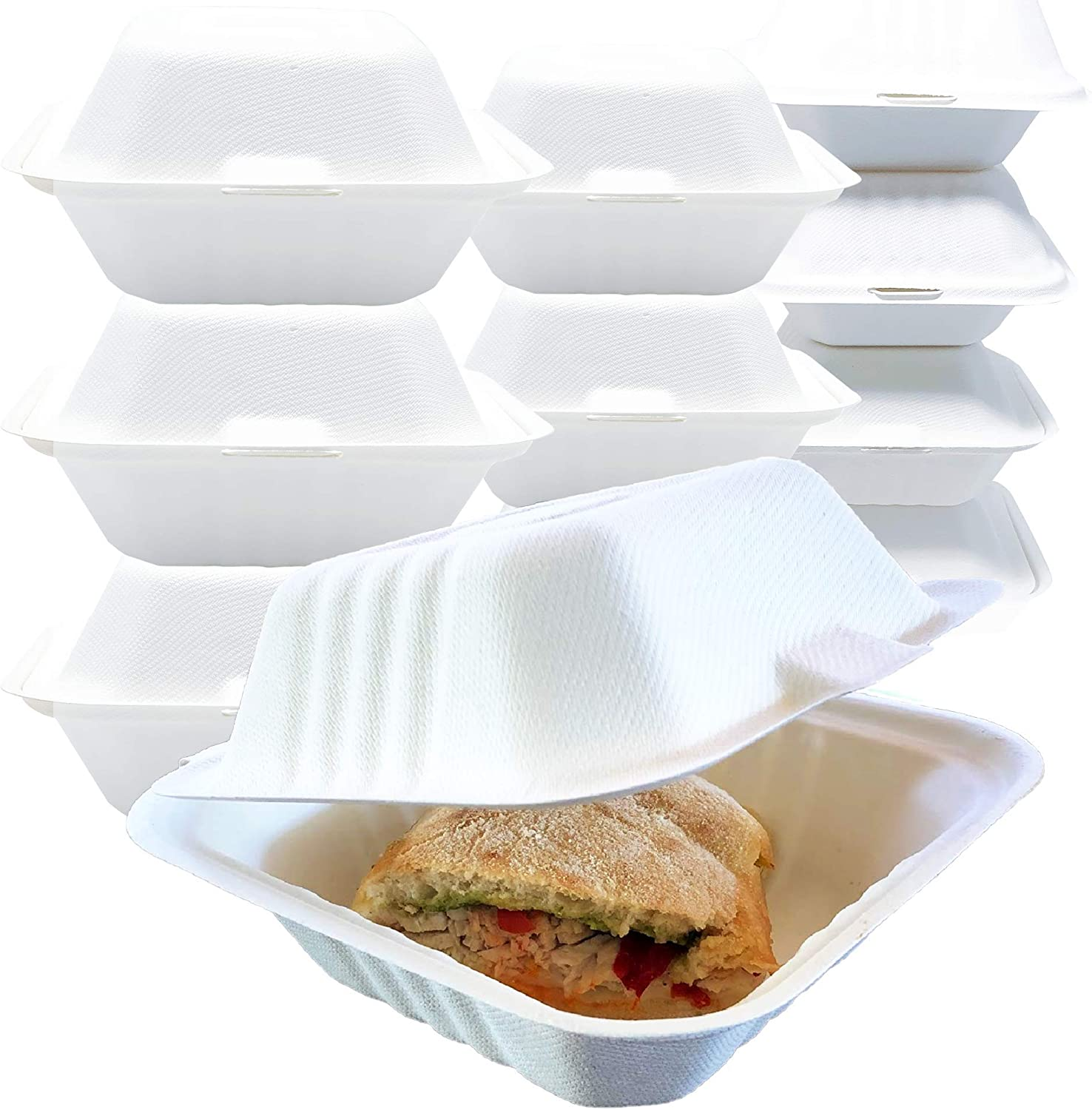 Reli. Compostable To Go Food Containers, Clamshell 6