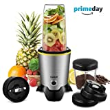 CHULUX Personal Blender and Coffee Grinder 2-in-1, High Speed Professional Blender for Shakes and Smoothies, Coffee Bean, Juice, Baby Food, 35oz & 15oz BPA-Free Bottles and Travel Lids(1000W)
