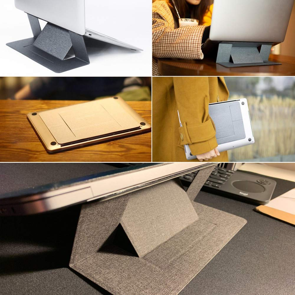 Amazon.com : Portable Invisible Ultra-Thin Fold Laptop Stand ...