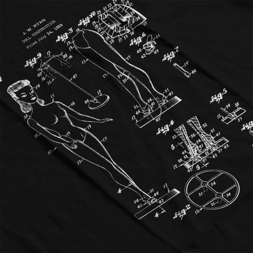 Barbie Doll Patent Blueprint J W Ryan Womens Vest Black