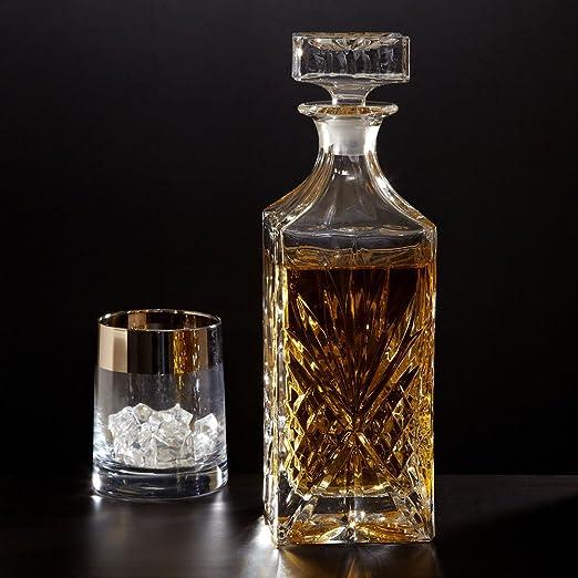 Vintage Glass Bottle Decanter Liquor Whiskey Crystal Wine Stopper Scotch Bar