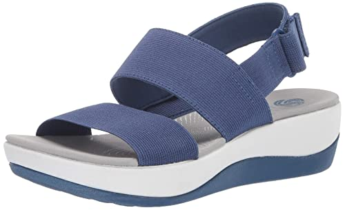 Amazon.com   Clarks Women s Arla Jacory Wedge Sandal   Shoes a1729cc8cb3