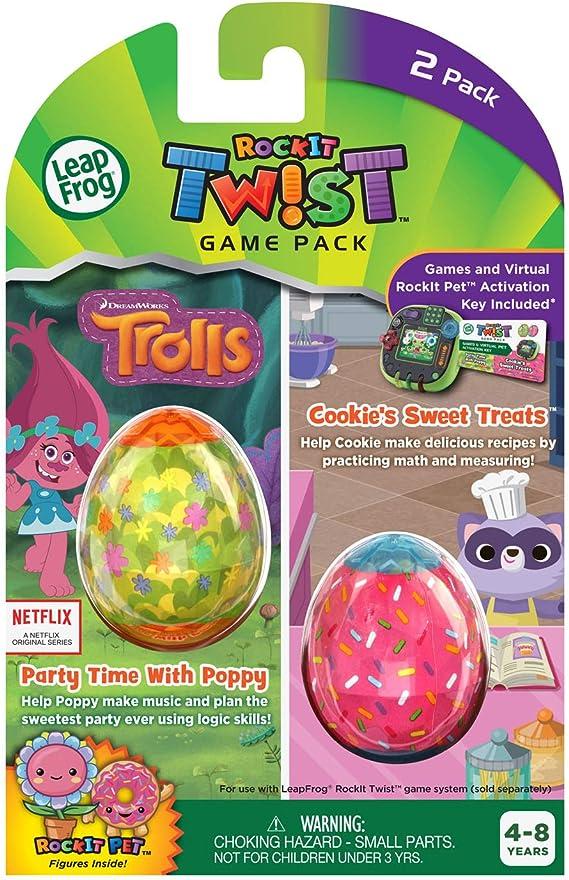 Amazon.com: LeapFrog Rockit Twist Dual Game Pack, Trolls ...