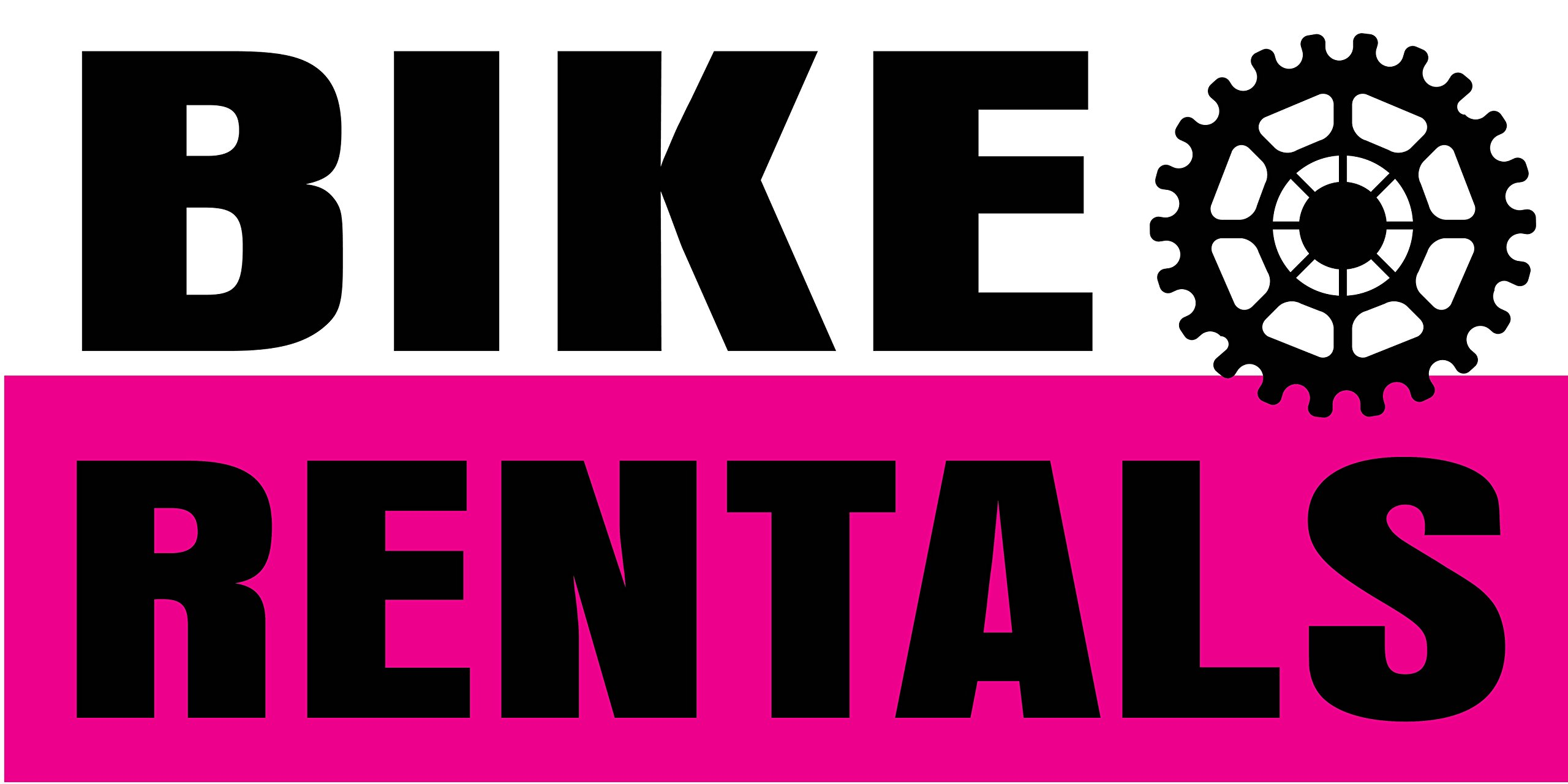 Pre-Printed Bike Rentals Banner - Stripe - Pink (10' x 5') by Reliable Banner Sign Supply & Printing