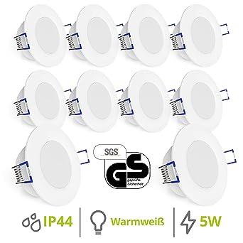 linovum® WEEVO IP44 LED Einbauleuchten 10er Set extra flach ...