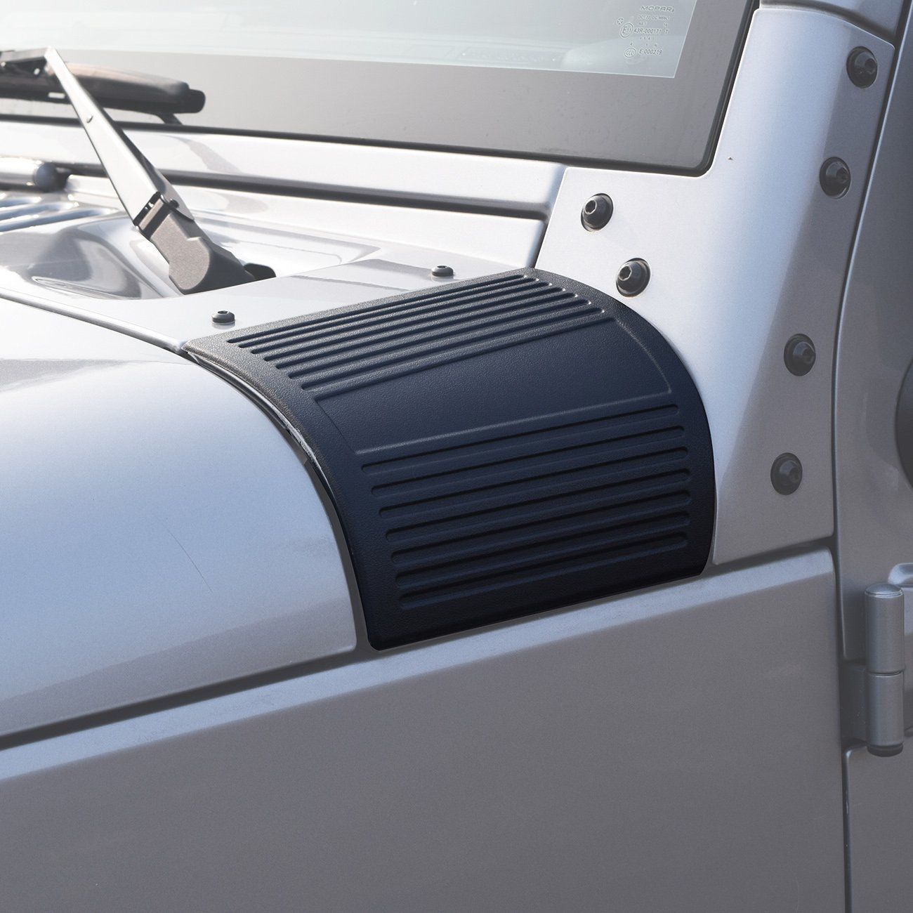 DIYTuning Cowl Body Armor for Jeep Wrangler JK JKU Unlimited Rubicon Sahara X Off Road Sport Exterior Accessories Parts 2007 2008 2009 2010 2011 2012 2013 2014 2015 2016 2017 DIYMaker