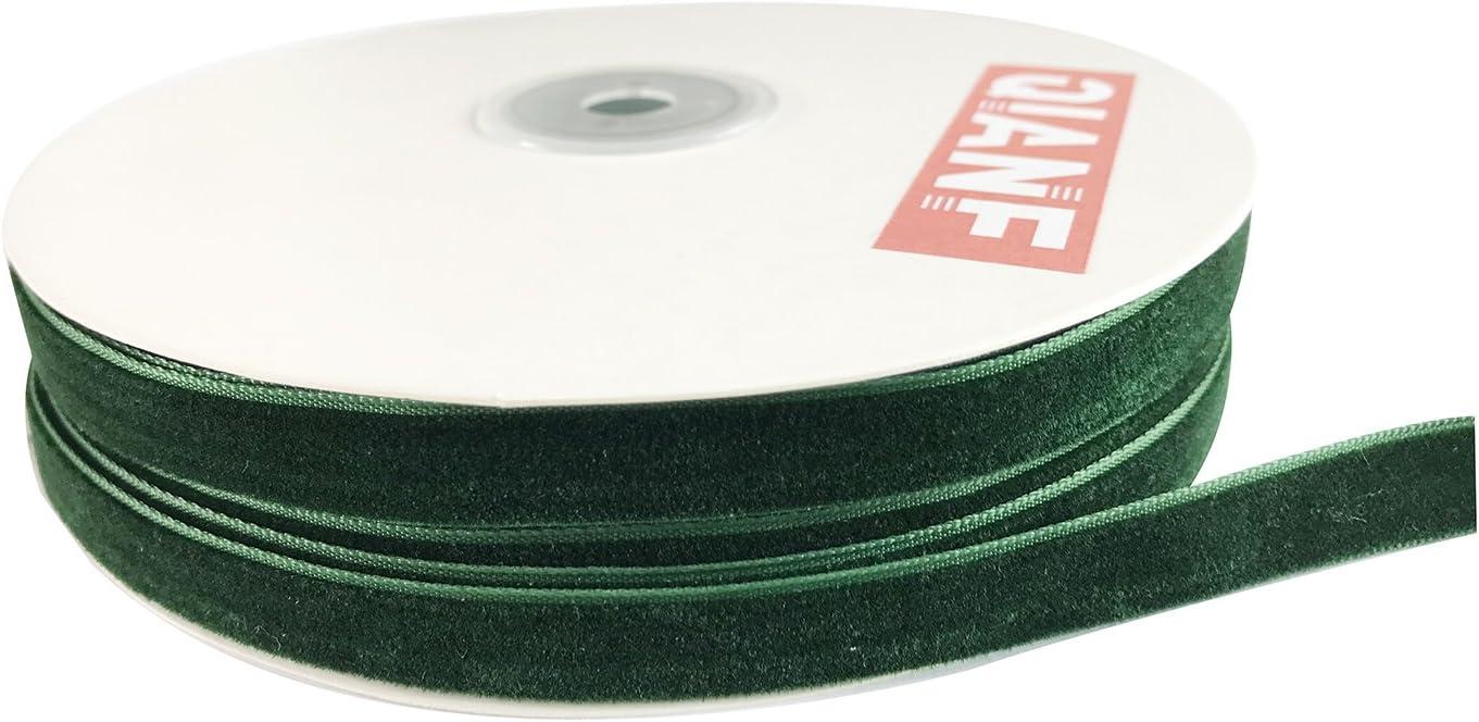 38 x 3 yards of Emerald velvet Vintage Velvet Ribbon
