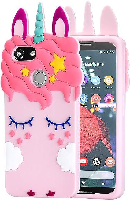 Amazon.com: TopSZ Pink Unicorn Case for Google Pixel 3,3D Cartoon ...