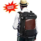 """OXA Travel Backpack Duffle Backpack Canvas Hiking Backpack for men,12""""(L) x 18""""(H) x 6""""(W)"""
