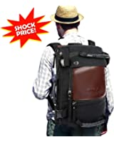 "OXA Travel Backpack Duffle Backpack Canvas Hiking Backpack for men,12""(L) x 18""(H) x 6""(W)"