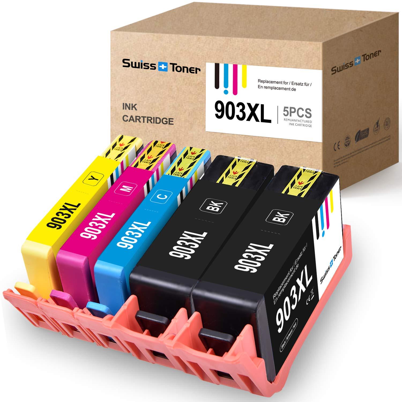 SWISS TONER Compatible con HP 903XL 903 XL Cartuchos de Tinta para ...