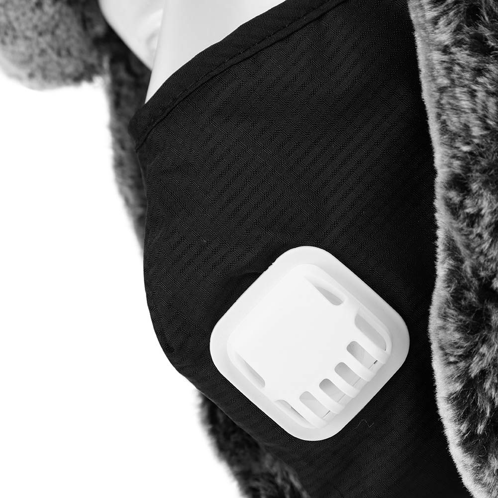 ITODA Cappello Bomber Invernale da Uomo Cappellino da Sci Caldo con Berretto in Pelliccia Sintetica con paraorecchie e valvola di respirazione Rimovibile Maschera Termica da Aviatore per Sci