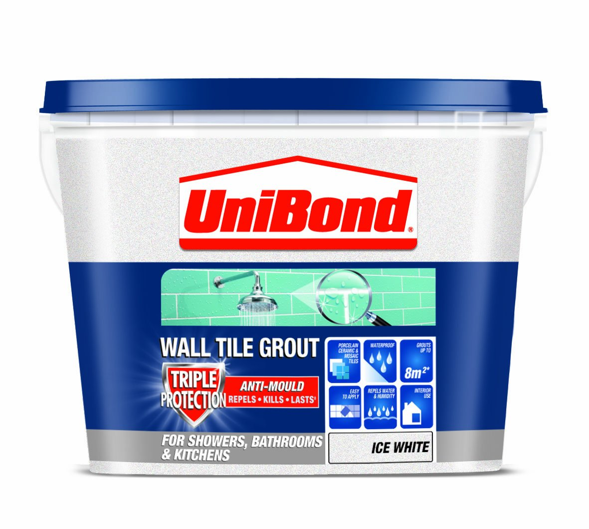 Unibond triple protect anti mould wall tile grout 1 l white unibond triple protect anti mould wall tile grout 1 l white amazon diy tools dailygadgetfo Gallery