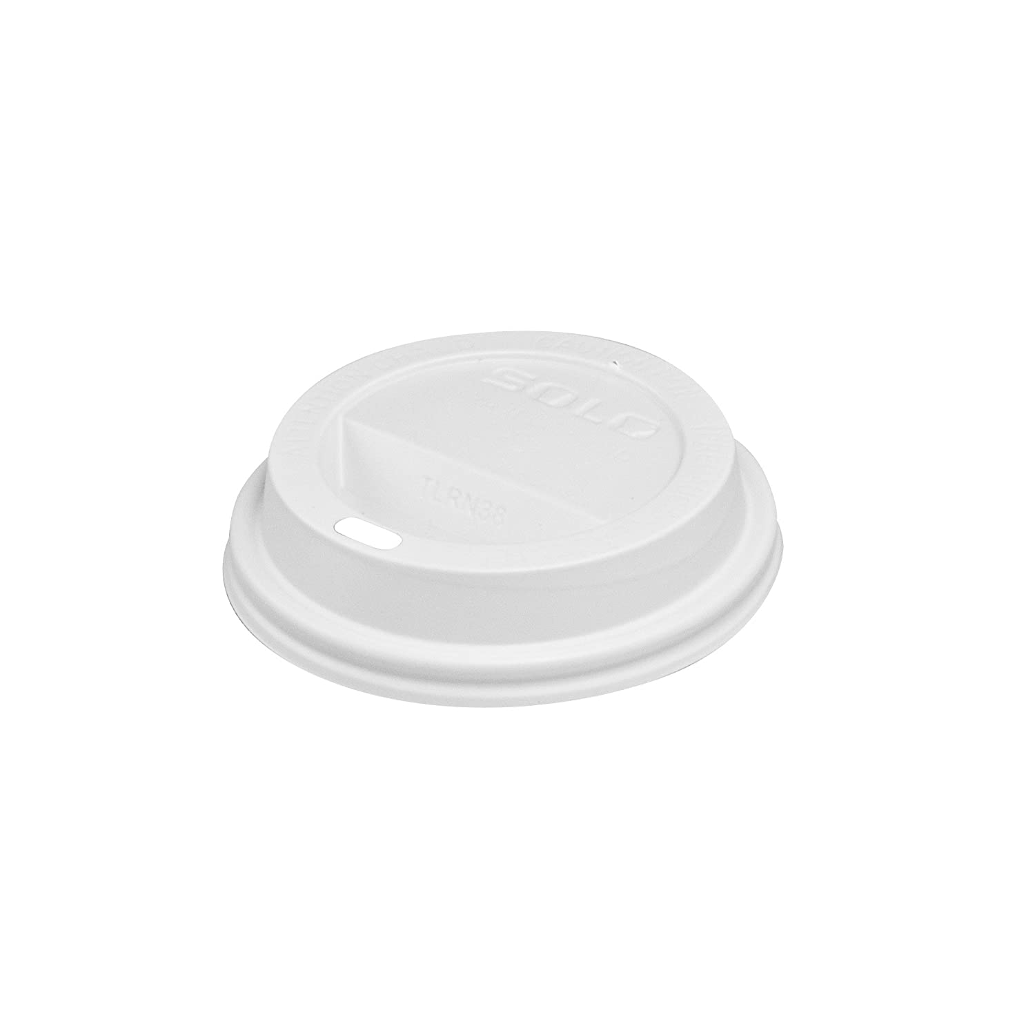 Solo TL38R2-0007 White Traveler Plastic Lid - For Solo Paper Hot Cups (Case of 1000)