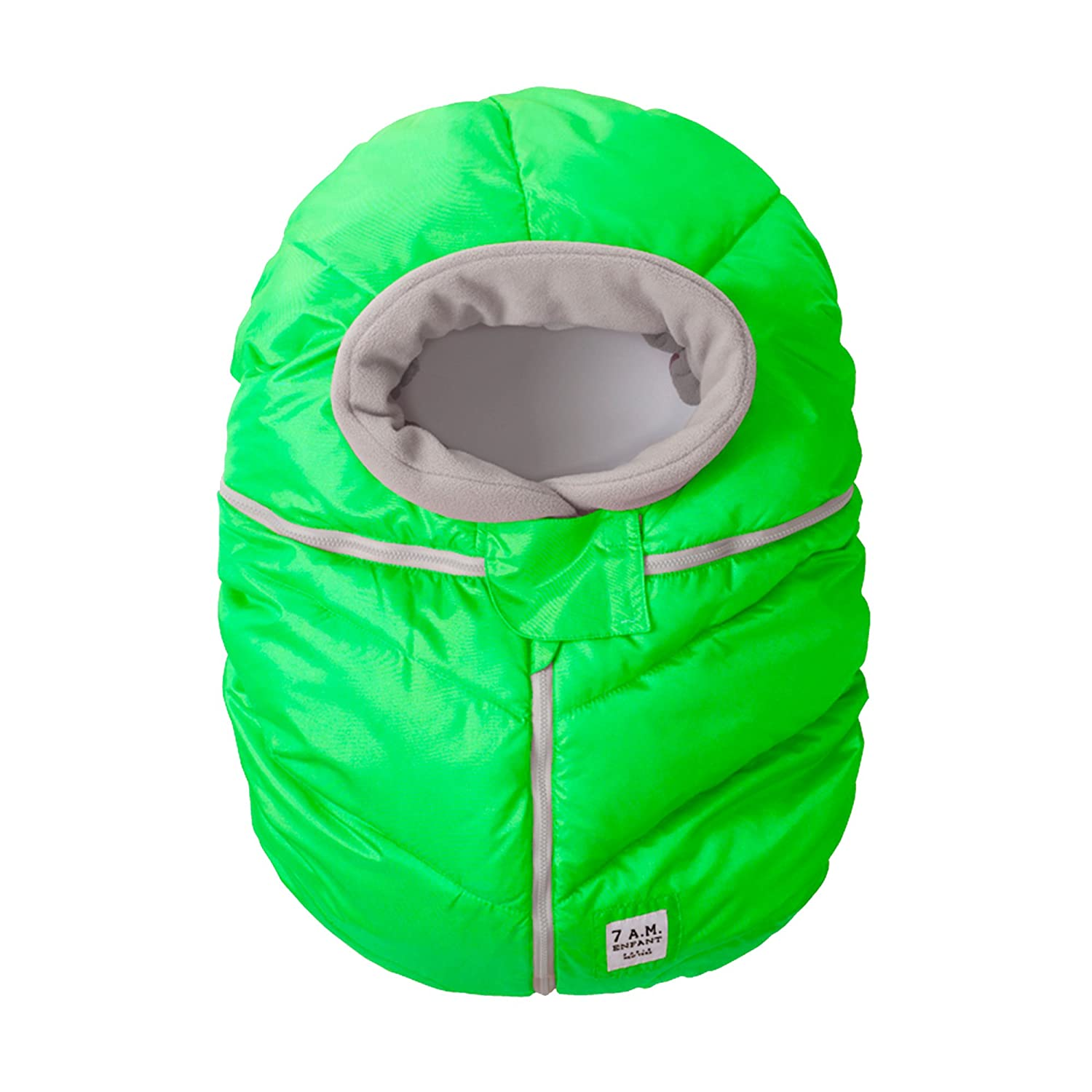 7AM Enfant Car Seat Cocoon: Infant Car Seat Cover Micro-Fleece Lined with an Elasticized Base, Neon Green 7 A.M. Enfant CSC-NG
