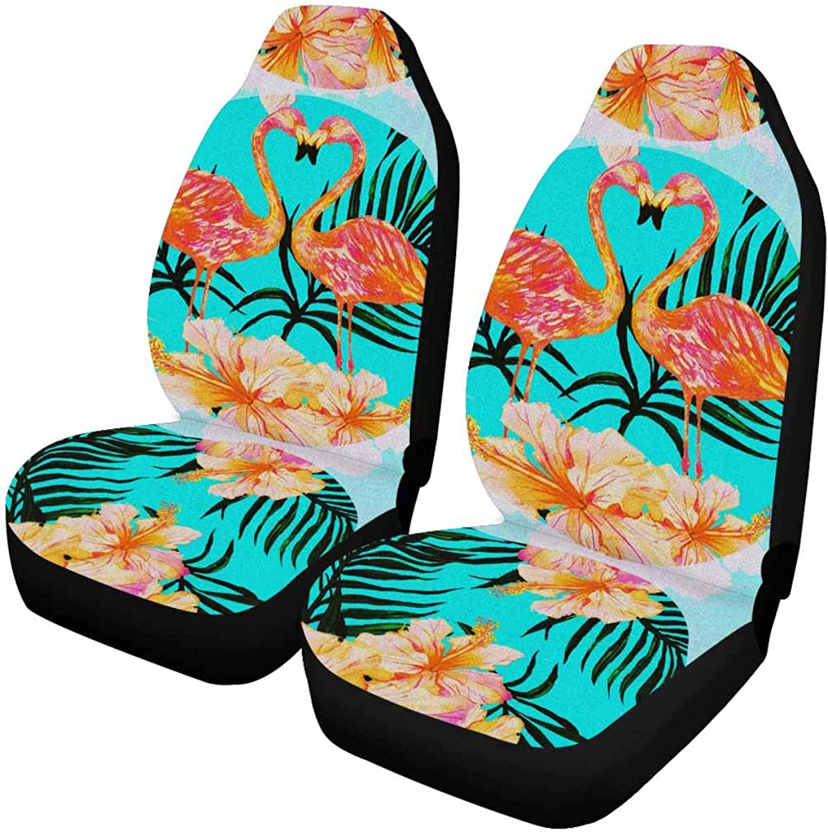 INTERESTPRINT Auto Seat Covers Full Set of 2, Vehicle Seat Protector Car Mat Covers, Fit Most Vehicle, Cars, Sedan, Truck, SUV, Van