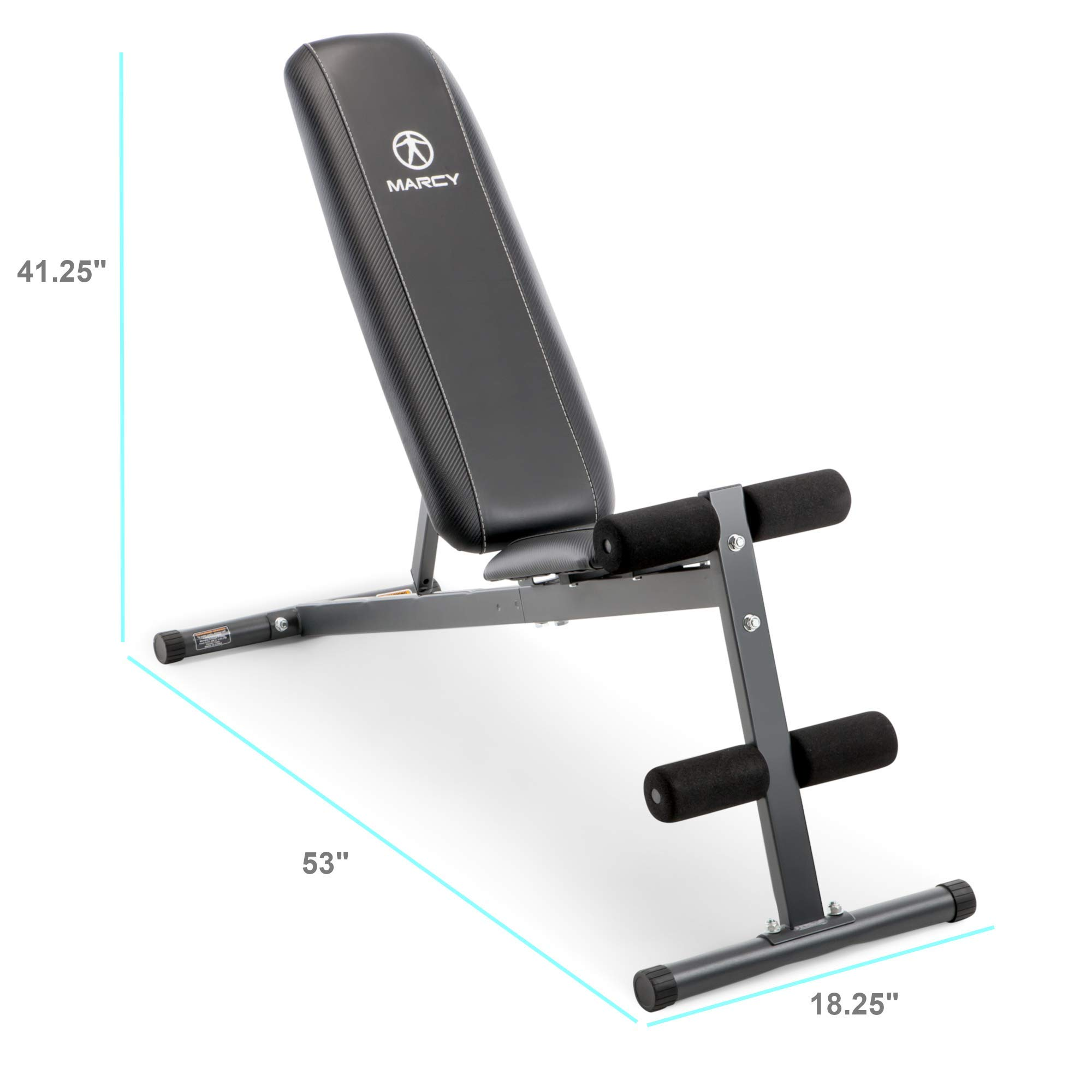 Marcy Exercise Utility Bench for Upright, Incline, Decline, and Flat Exercise SB-261W (Renewed)