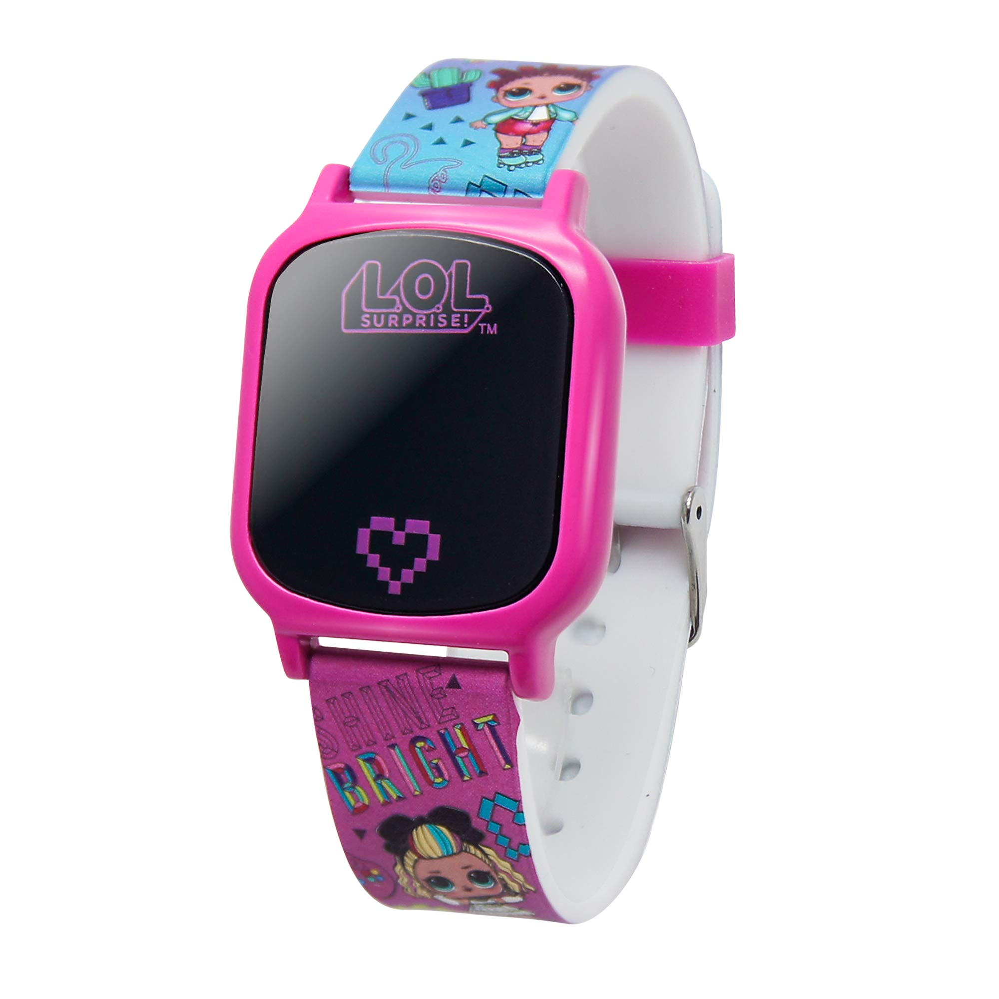 L.O.L. Surprise! Girls' Quartz Watch with Rubber Strap, Pink, 17 (Model: LOL4149AZ) by L.O.L. Surprise!
