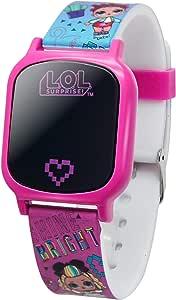 L.O.L. Surprise! Girls' Quartz Watch with Rubber Strap, Pink, 17 (Model: LOL4149AZ)