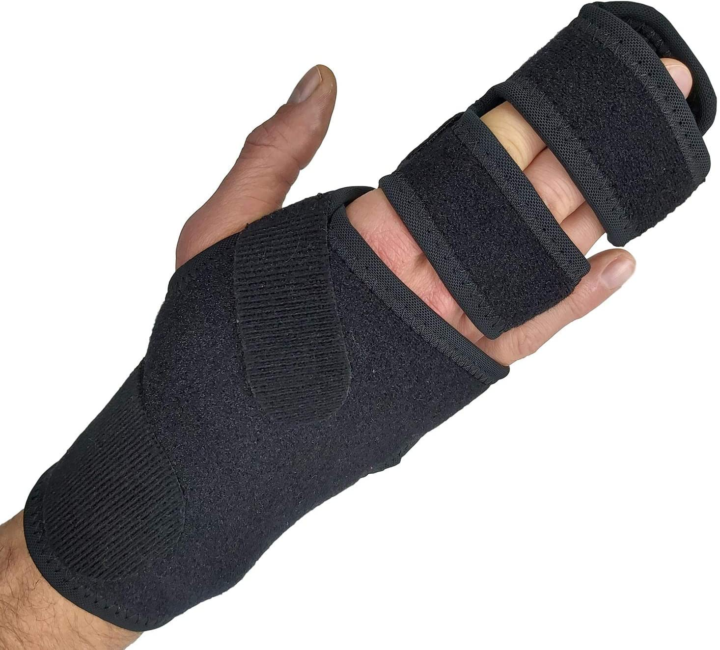 Trigger Finger Splint Finger Brace – Supports Two or Three Fingers. Help Broken Fingers Hand Contractures, Arthritis, Tendonitis, Mallet Fingers or Hand Splint for Metacarpal Fractures (Right - S/Med): Health & Personal Care