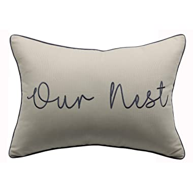 YugTex Pillowcases Our Nest Pillow Cover,Rectangular Pillow, Lumbar Pillow, entryway Pillow, Rectangular Pillow, Throw Pillow, Words Pillow,Sayings Pillow, Quote Pillow(14 x20 , Natural(Our nest))