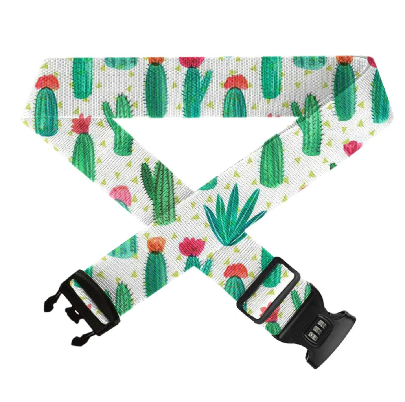 TSA Approved Lock Heavy Duty Suitcase Straps Travel Belts Accessories 1-Pc GLORY ART Adjustable Luggage Strap Desert Cactus Flower
