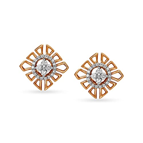 Buy Mia By Tanishq 14k 585 Rose Gold And Diamond Stud Earrings For Women At Amazon In