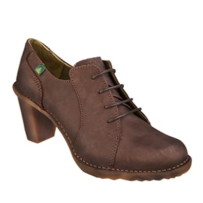 New El Naturalista Women's N527 Duna Lace Up Shoe Chocolate 39