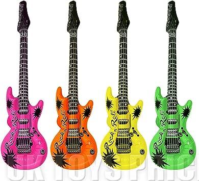1x guitarra inflable - colores surtidos - 106 cm: Amazon.es ...