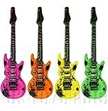 1 x 106 Centimeter Inflatable Guitar - Colour Varies