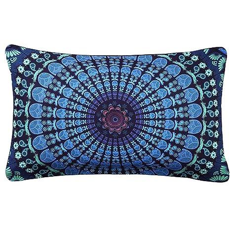Sencillo Vida Fundas De Cojin Almohada Caso de Lino Impresión de Bohemia Pillow Case Sofa Cushion Decoración del Hogar para Salón, Dormitorio, ...