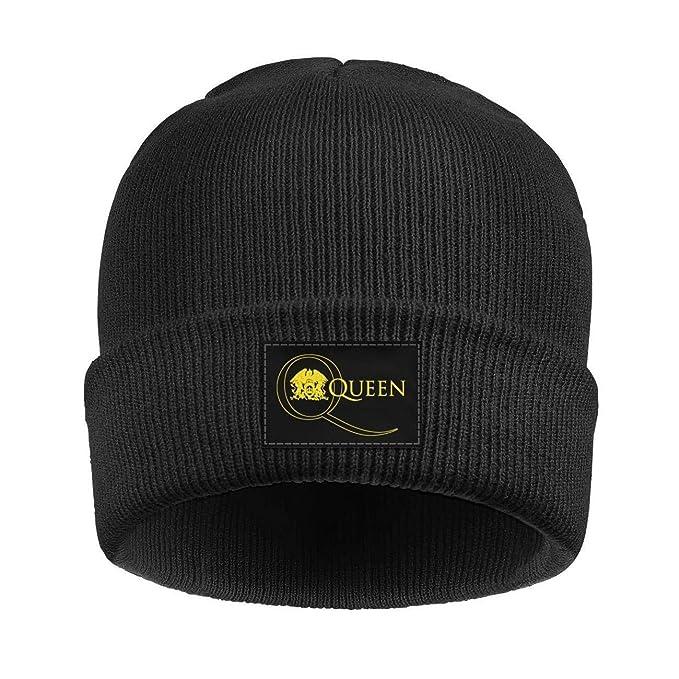 Amazon.com  Q-U-E-E-N-Band-We-Will-Rock-You- Soft Beanie Knit Hat ... b90a747c784