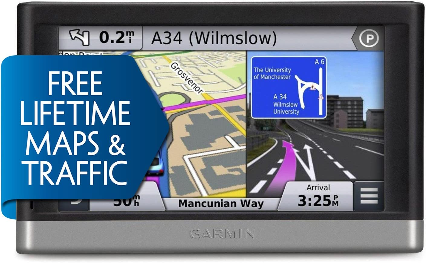 Garmin nuvi 2597LMT 5-Inch Bluetooth Portable Vehicle GPS with Lifetime Maps and Traffic 2597LMT Renewed