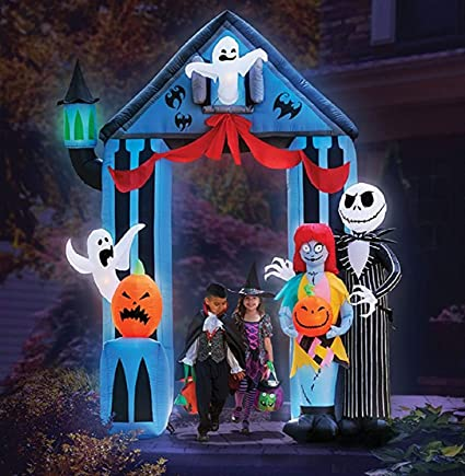 amazoncom gemmy halloween 9 nightmare before christmas archway garden outdoor