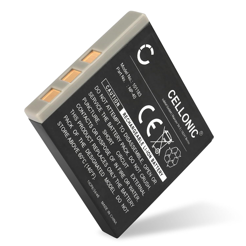 D-LI8 D-LI85 750mAh bateria Repuesto Pila CELLONIC/® Bater/ía Premium Compatible con Pentax Optio S6 S7 S5i S5z S5n S4 S4i S SV SVi WP WPi W10 W20 A10 A20 A30 A36 A40 Optio X T20 T10 E65 Optio L20