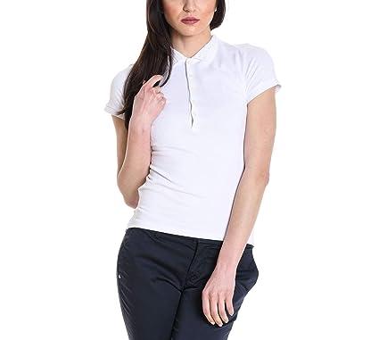 Ralph Lauren - Polo - para mujer Blanco blanco M: Amazon.es: Ropa ...