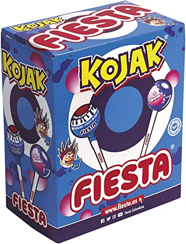 FIESTA Kojak Pintalenguas Caramelo con Palo Sabor Mora Relleno de ...