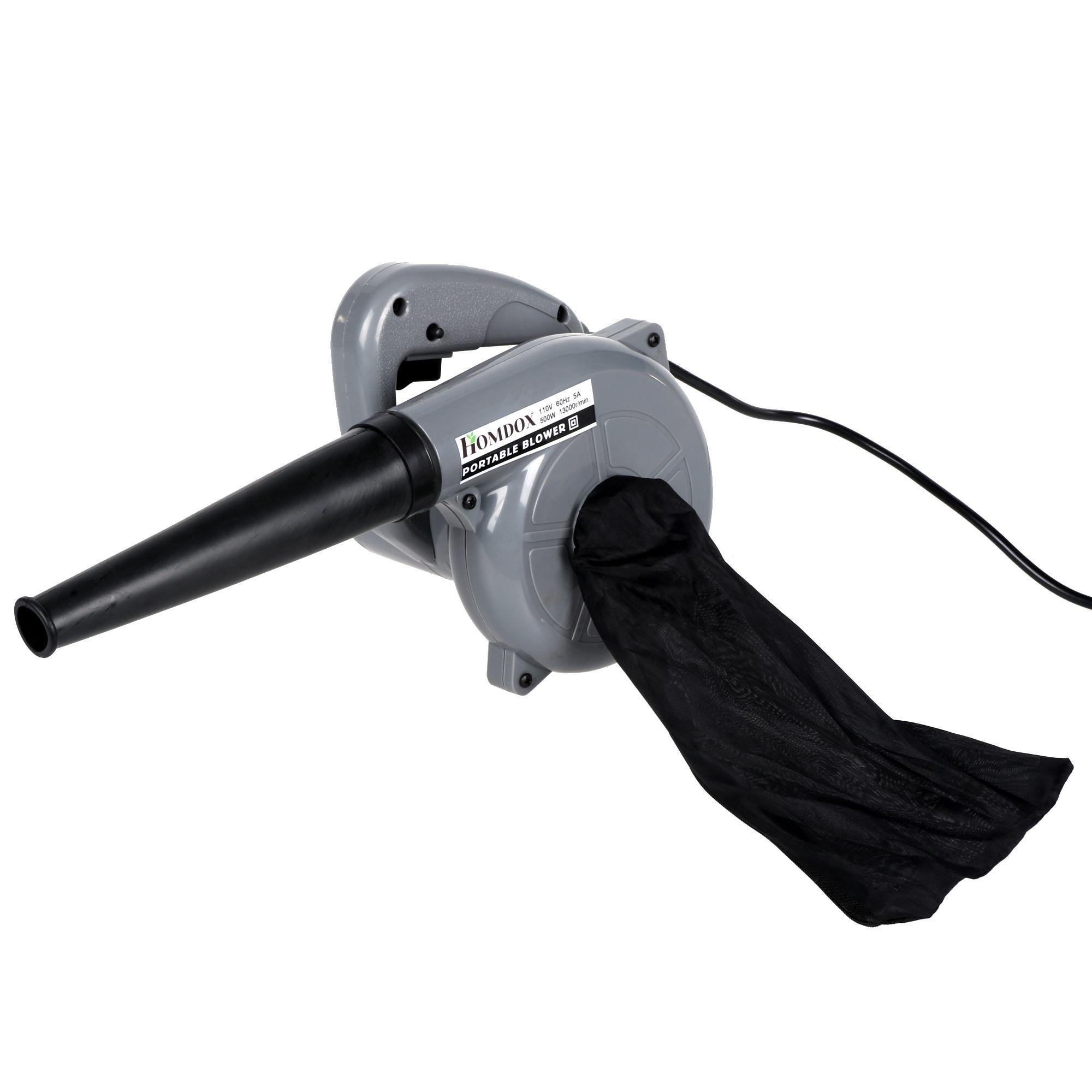 Meoket 500W Powerful Electric Handheld Dust Leaf Blower/Vacuum Cleaner for Shop Garage Garden, Vehicle Dryer