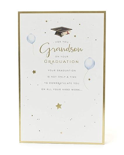 Tarjeta de graduación, nieto, regalo para él, regalo de ...