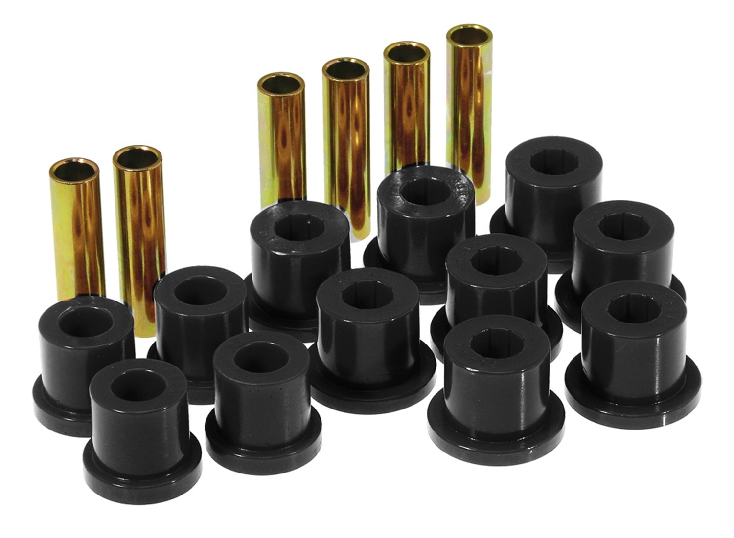 Prothane 7-1002-BL Black Rear Spring Eye and Shackle Bushing Kit