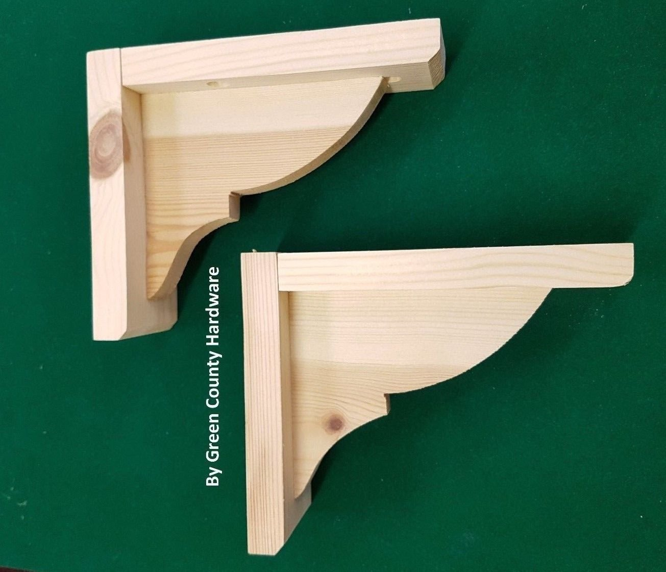 Home Furniture Diy 2 X Pine Wooden Shelf Brackets Gallows