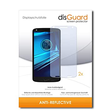 2 x disGuard Anti-Reflective Lámina de protección para Motorola Droid Turbo 2 - ¡